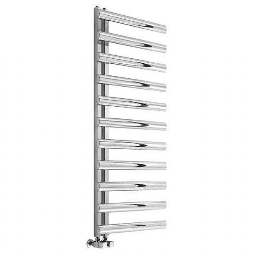 Reina Cavo Vertical Designer Heated Towel Rail - 1230mm x 500mm - Brushed